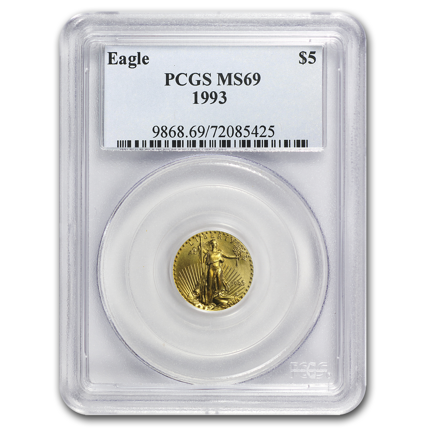 1993 1/10 oz Gold American Eagle MS-69 PCGS